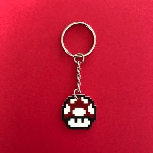 Urban Outfitters Accessories - Brand new Mario bros red mushroom keychain